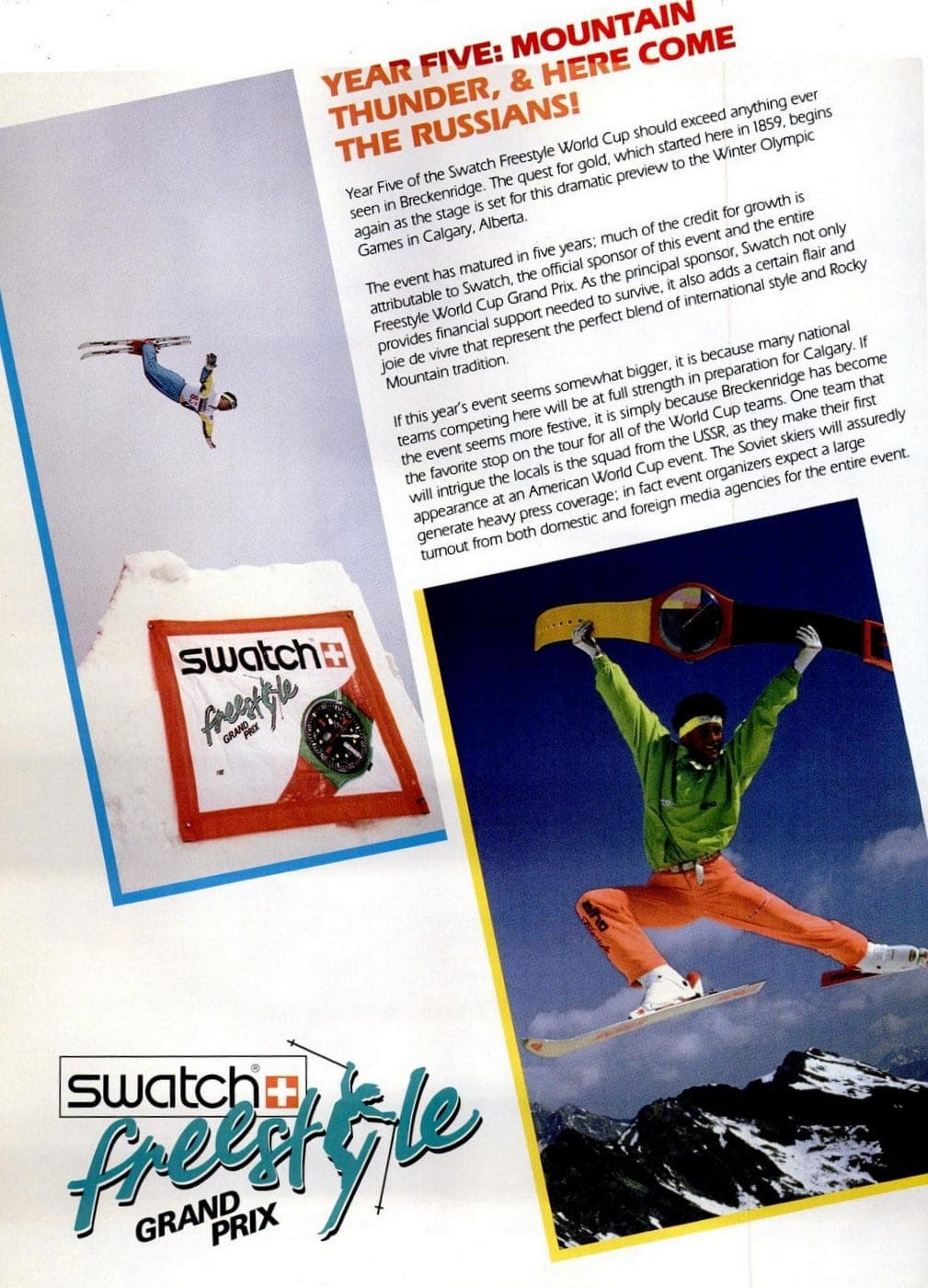 1988 Swatch Freestyle watches 1
