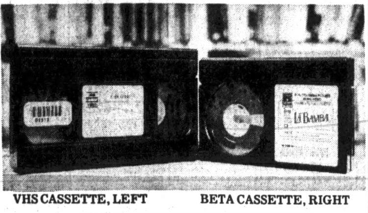 1988 - VHS cassette and Beta cassette - VCR format wars