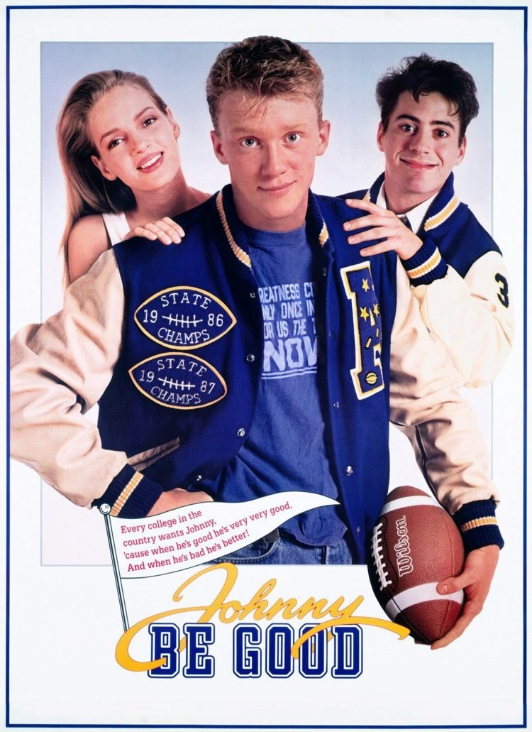 1988 movie Johnny Be Good with Anthony Michael Hall - Uma Thurman - Robert Downey