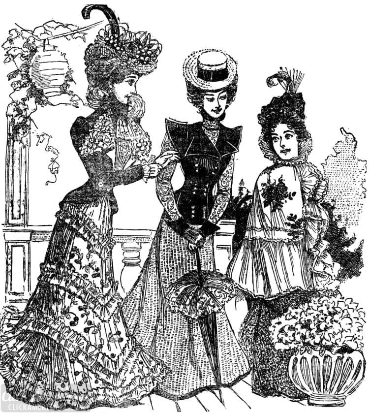 1898 - Women at a Victorian garden party