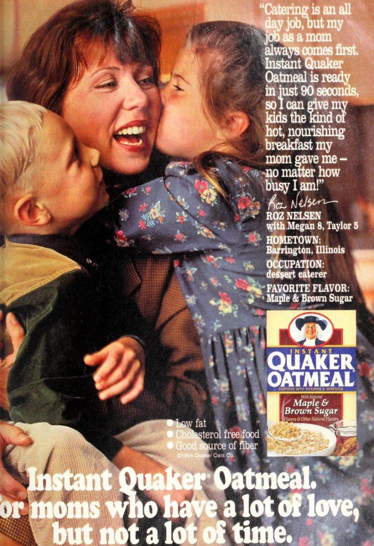 1990 Quaker Instant Oatmeal