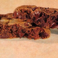 1990s Chewy brownie cookies recipe (1995)