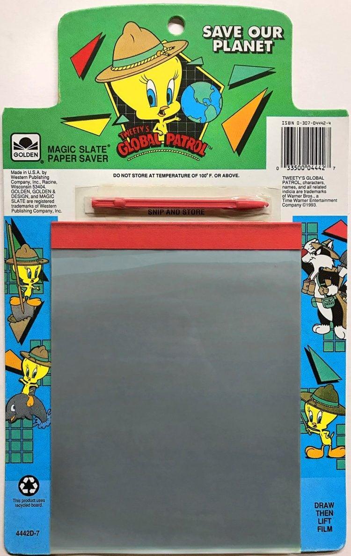 1990s Vintage Magic Slate Paper Saver drawing toy - Tweety