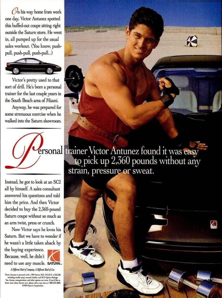 Personal trainer Victor Antunez' Saturn car