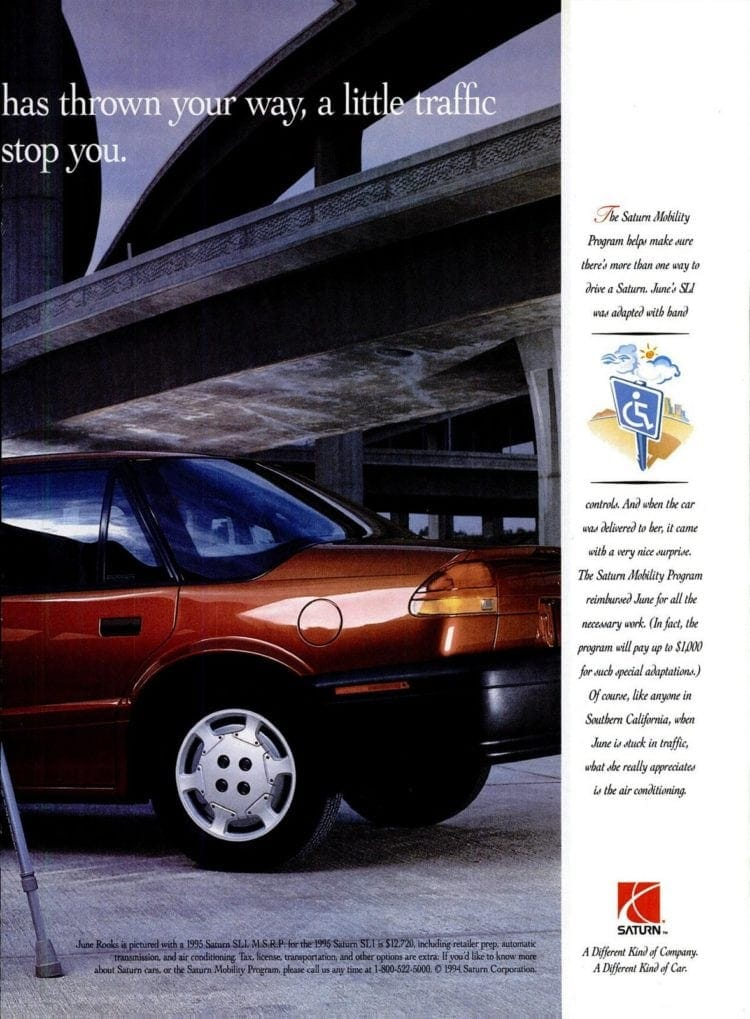 June Rooks and her Saturn car