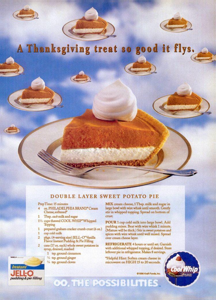 1996 Double layer sweet potato pie