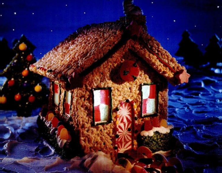 1999 Rice Krispie Holiday gingerbread house Christmas holidays