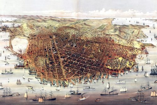 19th century San Francisco skyline
