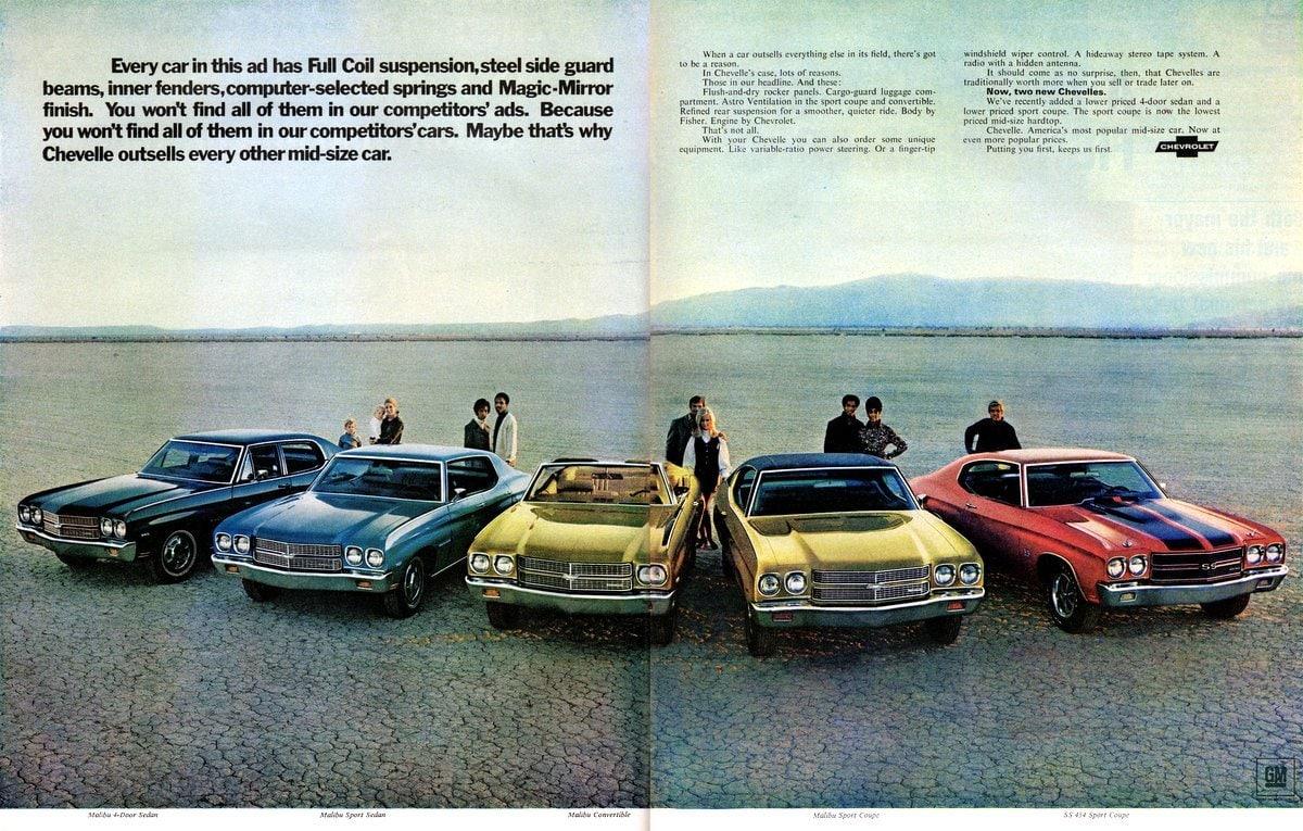 2 new Chevy Chevelles (1970)