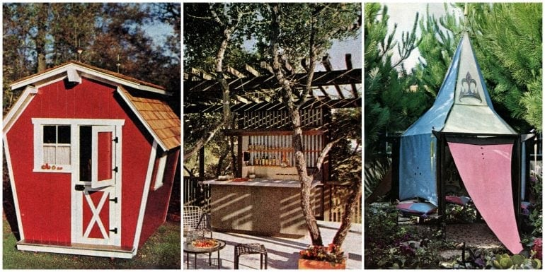 3 bright ways to make a backyard add to family fun (1965)