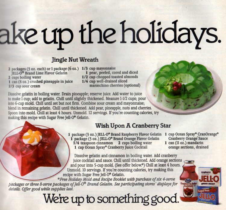 3 cute and colorful Christmas Jello desserts from the 80s (1)