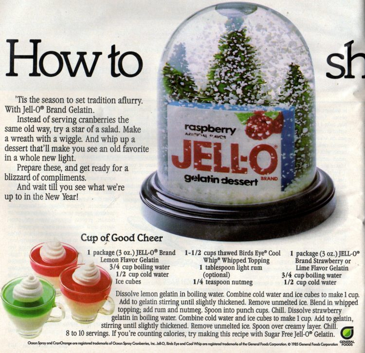 3 cute and colorful Christmas Jello desserts from the 80s (2)