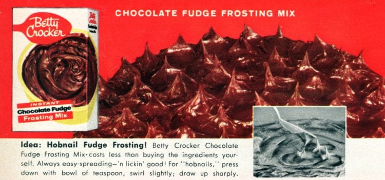 3 fun new ways to frost your cakes - Hobnail fudge frosting