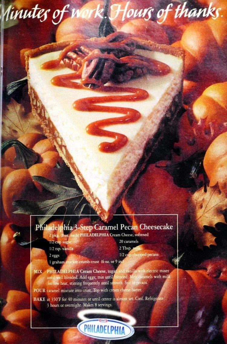 3 step caramel-pecan cheesecake (1999)