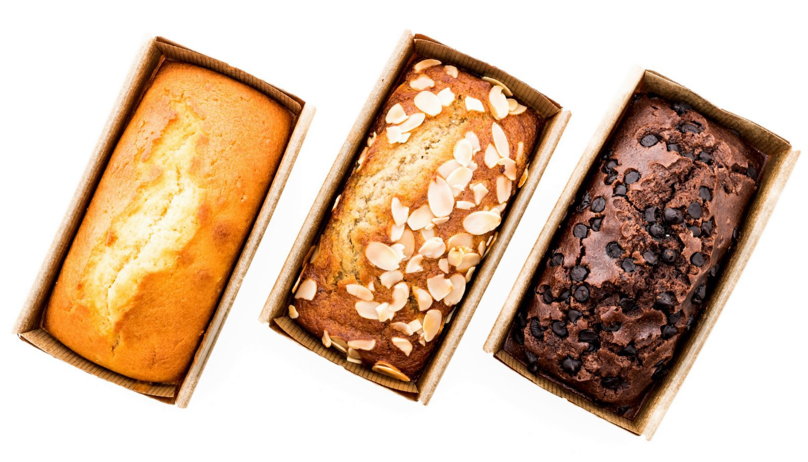 Store-bought frozen packaged pound cakes