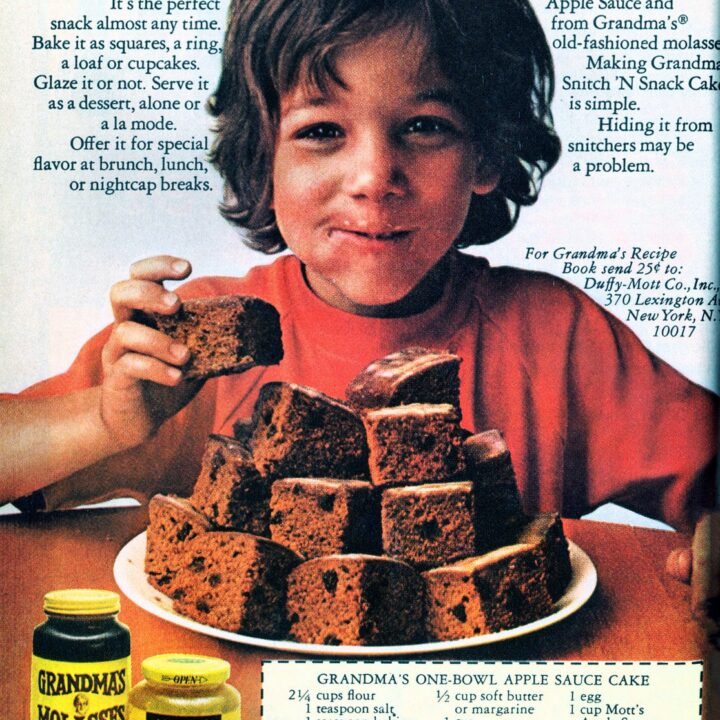 3 vintage applesauce cake recipes (1970s)