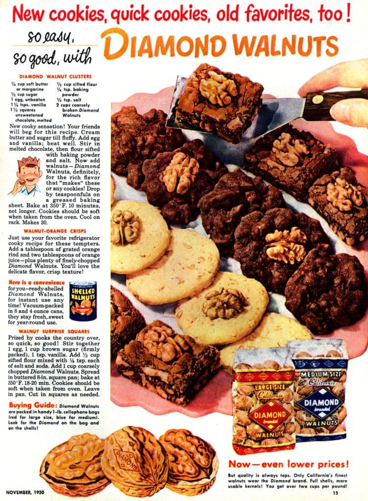 3 easy walnut cookie recipes (1950)