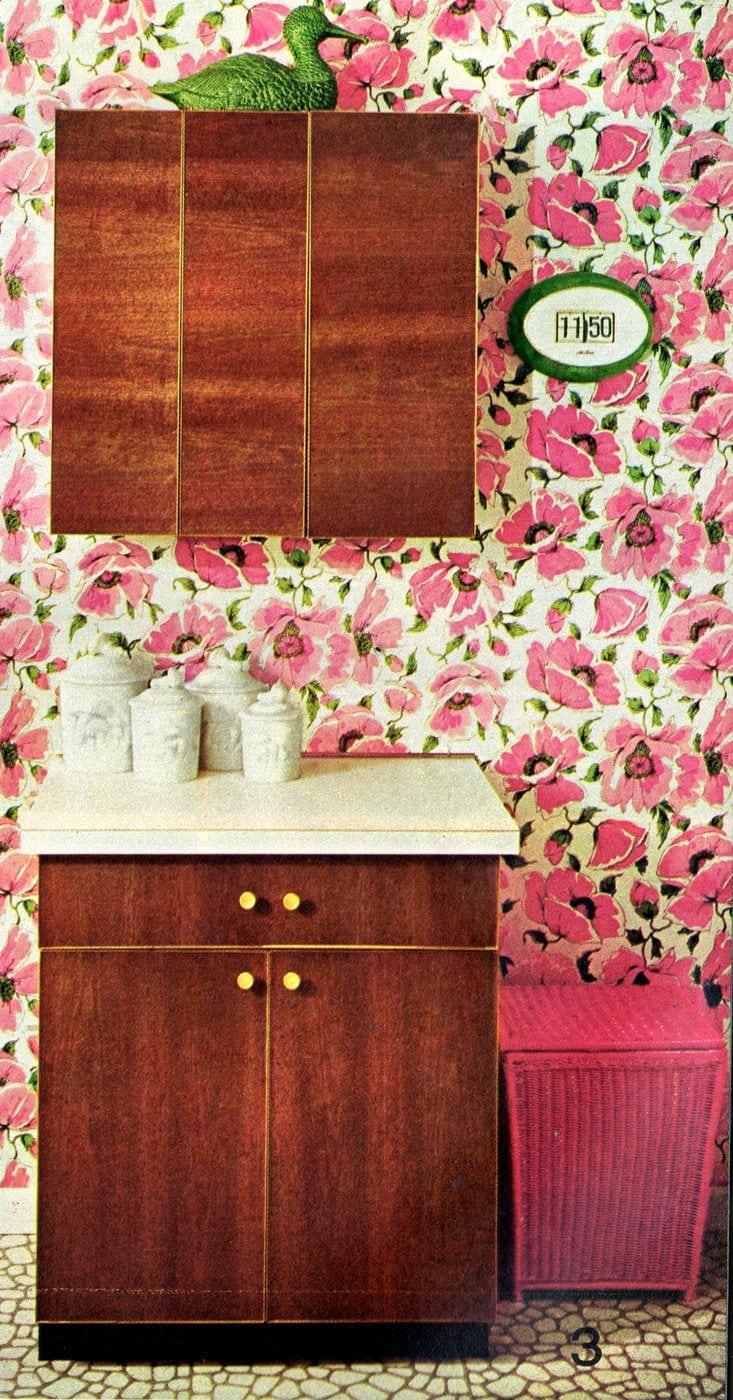 3. Sleekly sophisticated veneered cabinet doors