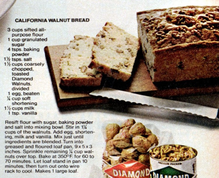 4 wonderful walnut recipes - California walnut bread