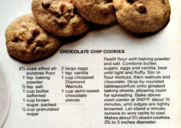 4 wonderful walnut recipes - Chocolate chip cookies