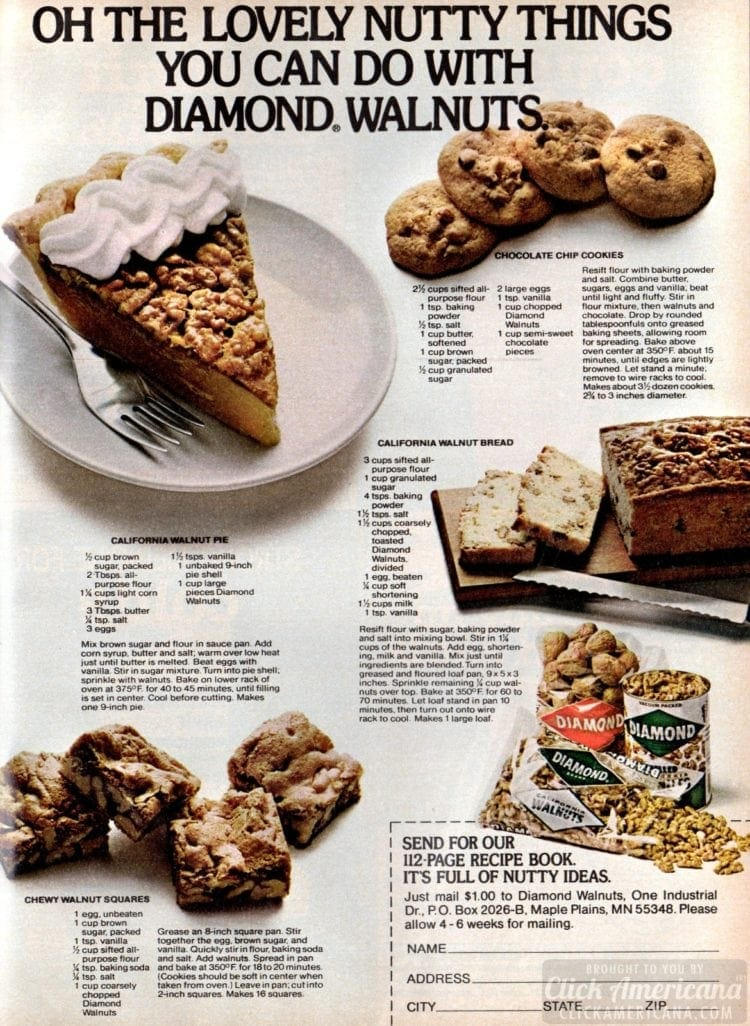 4 wonderful walnut recipes - November 1978