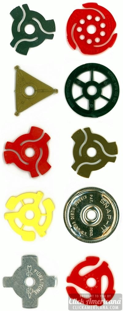 45 rpm spindle adapters, spider inserts