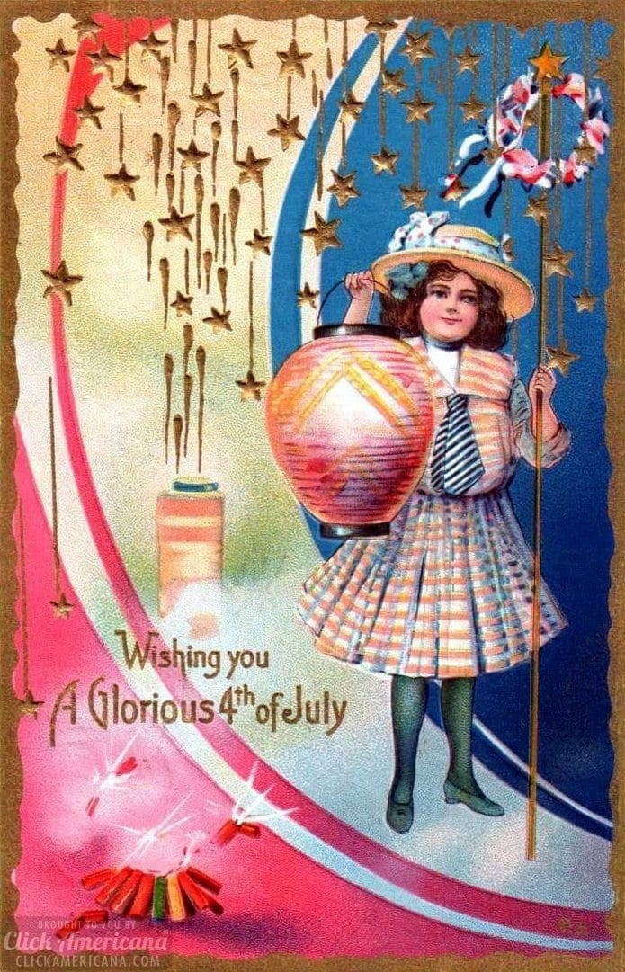 Vintage Postcards For The 4th Of July To See Amp Share