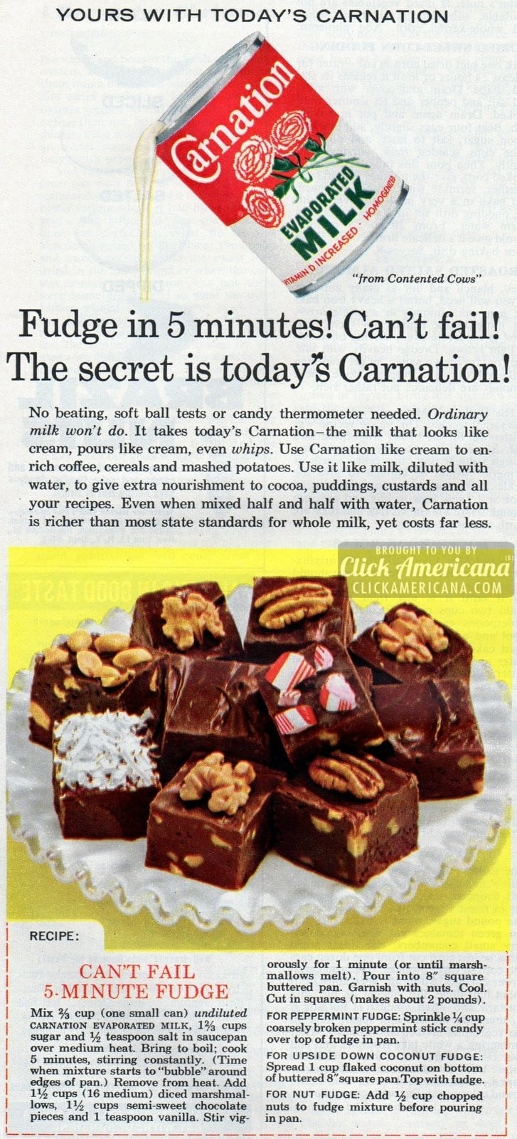 Can't fail 5-minute fudge recipe (1961)