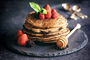 Buckwheat pancakes with fruit