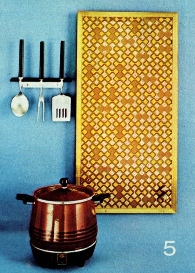 5. Washable foil patterned wall covering with yellow trim
