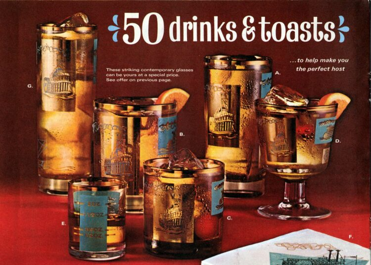 50 drinks and toasts from 1968