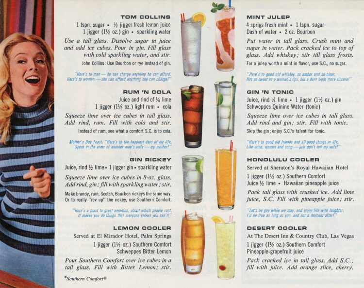50 drinks and toasts from 1968 - Alcoholic cocktail recipes