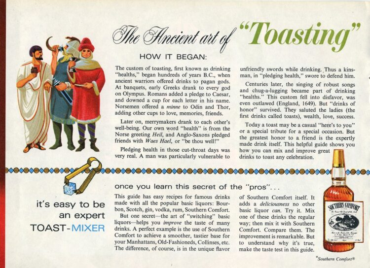 Get some vintage drink recipes- The ancient art of toasting