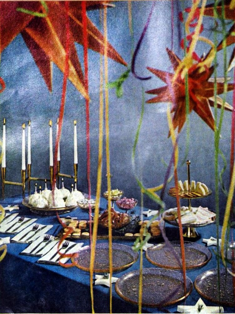 50s party table decor from 1959 (1)