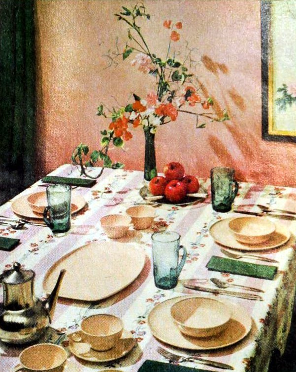 50s party table decor from 1959 (3)