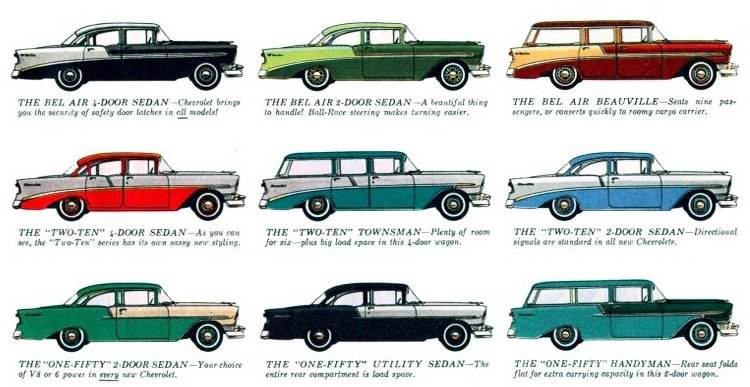 56 Chevys - Classic cars (1)