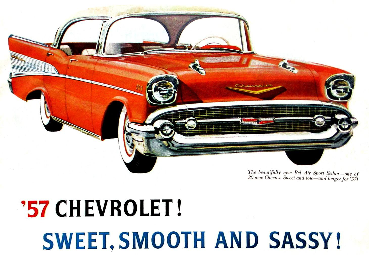 57 Chevrolet! Sweet, smooth and sassy!