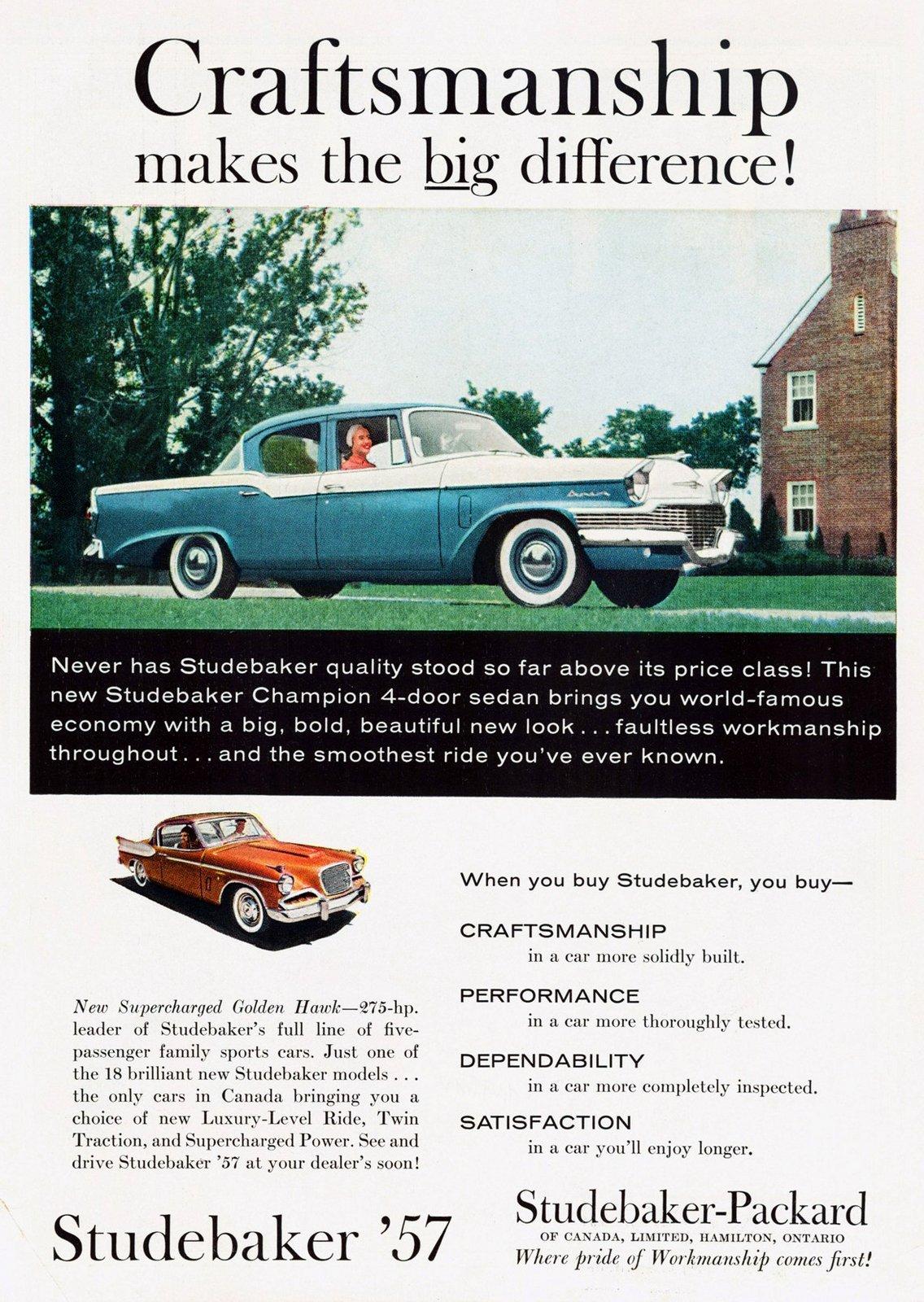 57 Studebaker Champion classic sedan