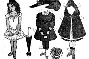6 vintage paper dolls Around the world with Dorothy Dot (1909)