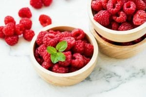 Red raspberries fruit