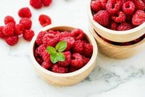 Red raspberries fruit