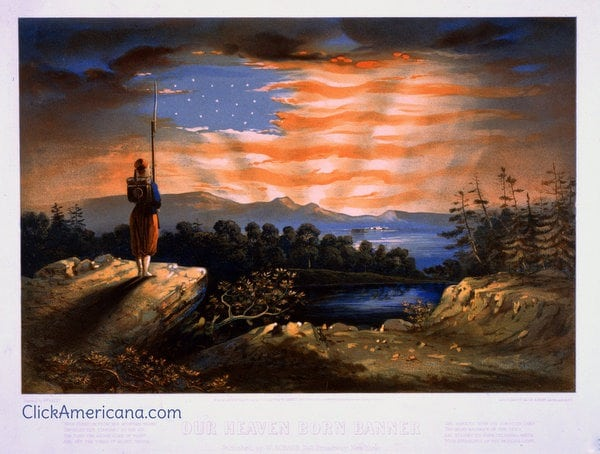 Our heaven-born banner & Fate of Rebel flag (1861)