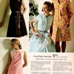 Carefree casual '60s dresses - embroidered flowers, monograms, piping accents