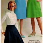 '60s-style skirts from vintage Wards catalog 1968