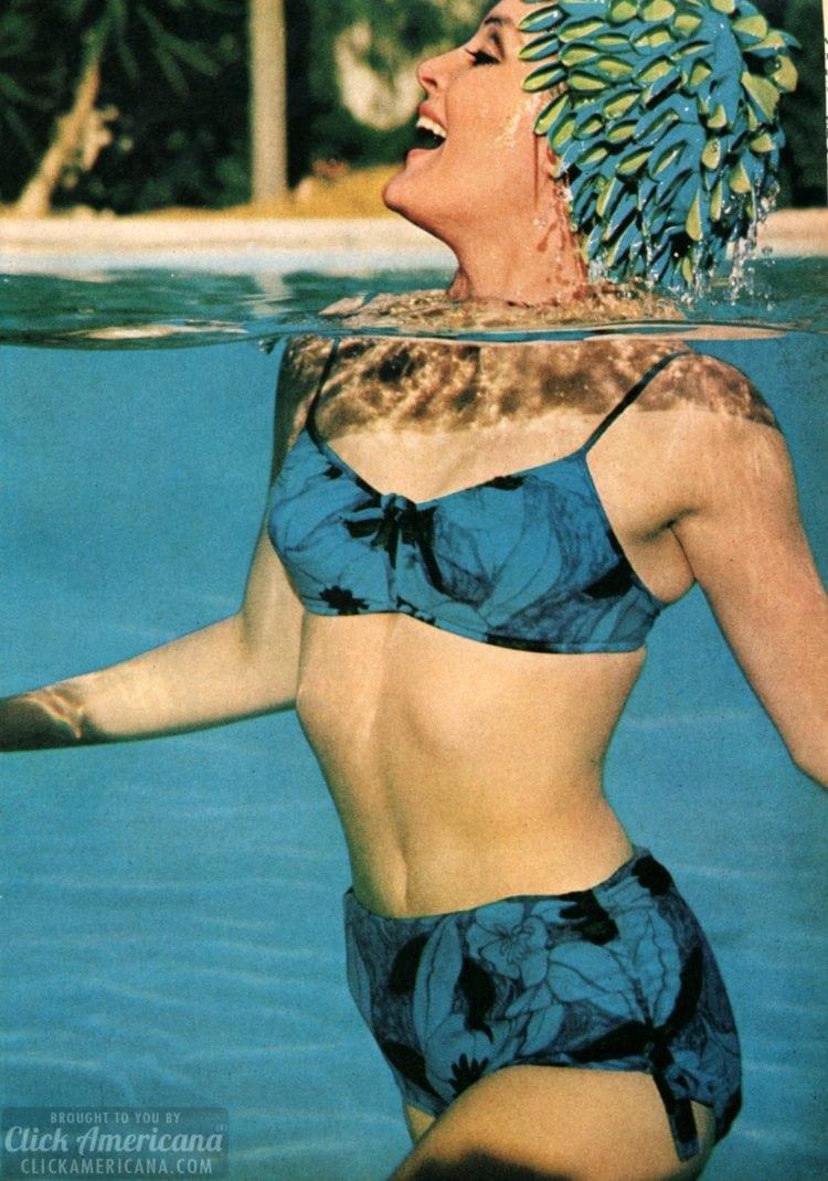 Pliant, bare, unblushing -- in a bikini