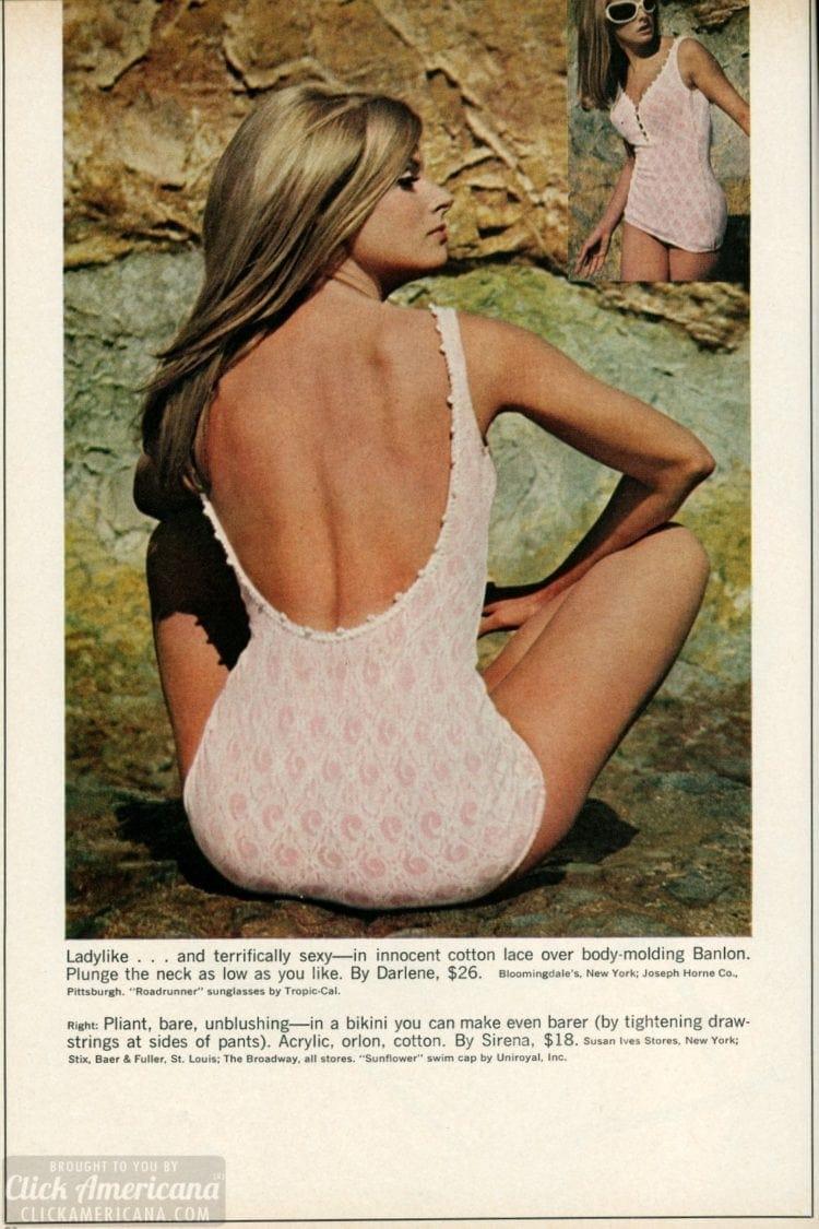 cotton lace over body-molding Banlon