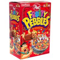 Post Fruity Pebbles Cereal, 34 Ounce Box