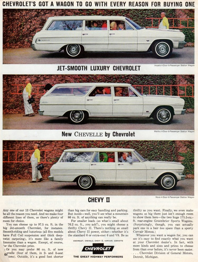 '64 Chevrolet station wagons - Jet smooth luxury