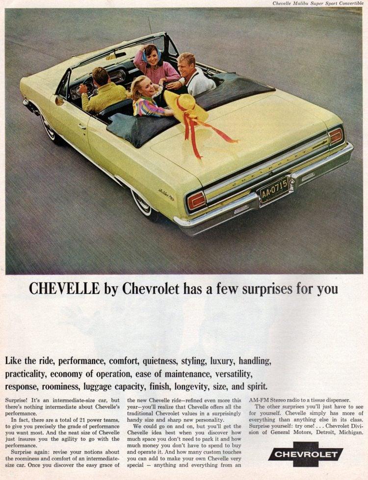 65 Chevy Chevelle Malibu Super Sport convertible