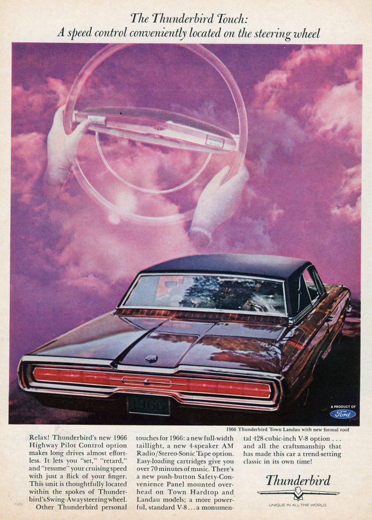 66 Ford Thunderbird cars